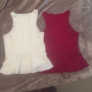 Express Blouses XS Red and White